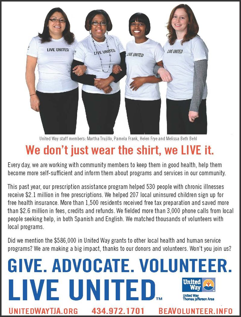 2011 United Way Annual Manual Ad